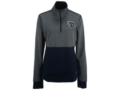 Sporting Kansas City adidas MLS Women's Logo Climalite 1/2 Zip Jacket