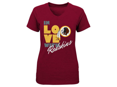 Washington Redskins NFL Youth Girls Pave Triblend T-Shirt
