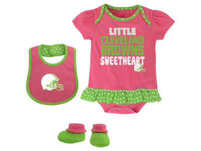 Cleveland Browns NFL Infant Little Sweet Bib & Bootie Set