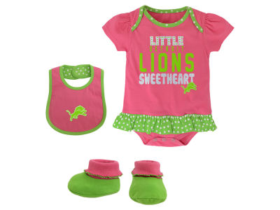 Detroit Lions NFL Infant Little Sweet Bib & Bootie Set