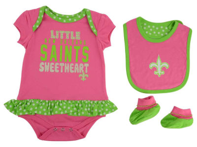 New Orleans Saints NFL Infant Little Sweet Bib & Bootie Set