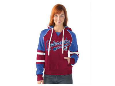 Colorado Avalanche G-III Sports NHL Women's Shutout Pullover Hoodie