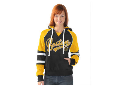 Boston Bruins GIII NHL Women's Shutout Pullover Hoodie