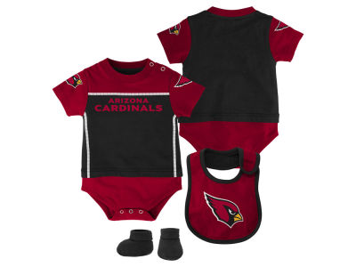 Arizona Cardinals NFL Infant Lil Jersey Creeper, Bib & Bootie Set
