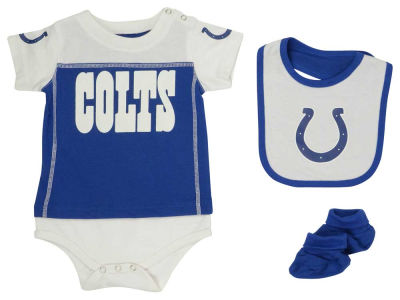 Indianapolis Colts NFL Infant Lil Jersey Creeper, Bib & Bootie Set