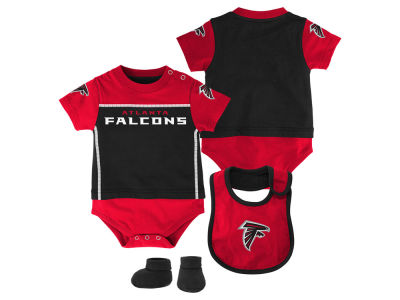 Atlanta Falcons NFL Infant Lil Jersey Creeper, Bib & Bootie Set