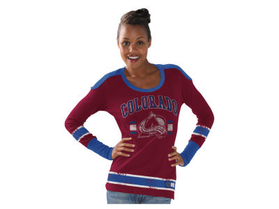 Colorado Avalanche GIII NHL Women's PP Thermal Long Sleeve T-Shirt