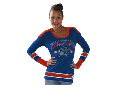 Columbus Blue Jackets GIII NHL Women's PP Thermal Long Sleeve T-Shirt