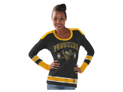 Pittsburgh Penguins GIII NHL Women's PP Thermal Long Sleeve T-Shirt