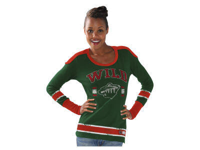 Minnesota Wild GIII NHL Women's PP Thermal Long Sleeve T-Shirt