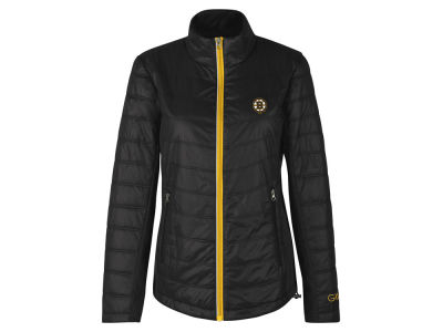 Boston Bruins GIII NHL Women's Sideline Quilted Jacket