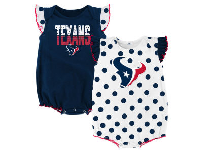 Houston Texans Outerstuff NFL Newborn Polka Fan 2 Piece Creeper Set