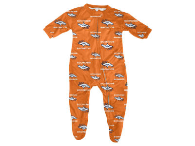 Denver Broncos Outerstuff NFL Newborn Raglan Zip Up Coverall