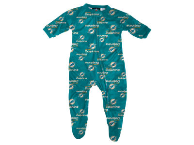 Miami Dolphins Outerstuff NFL Newborn Raglan Zip Up Coverall