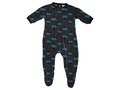 Carolina Panthers Outerstuff NFL Newborn Raglan Zip Up Coverall