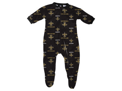 New Orleans Saints Outerstuff NFL Newborn Raglan Zip Up Coverall