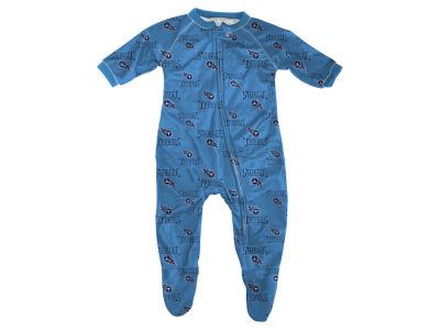 Tennessee Titans Outerstuff NFL Newborn Raglan Zip Up Coverall