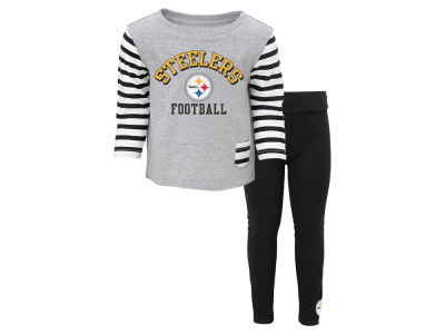 Pittsburgh Steelers NFL Kids Little Big Girl Pant Outfit