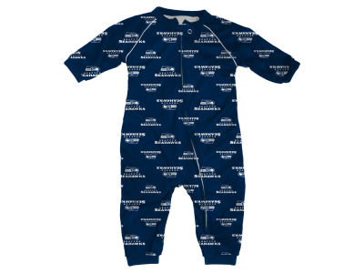 Seattle Seahawks Outerstuff NFL Toddler Raglan Zip Up Coverall
