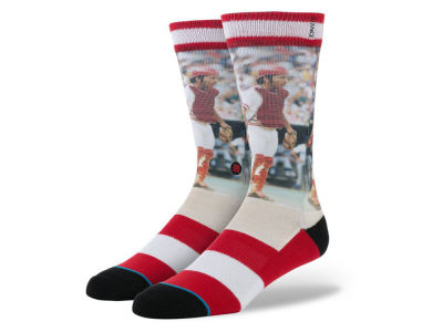 Cincinnati Reds Johnny Bench Stance MLB Legends Socks