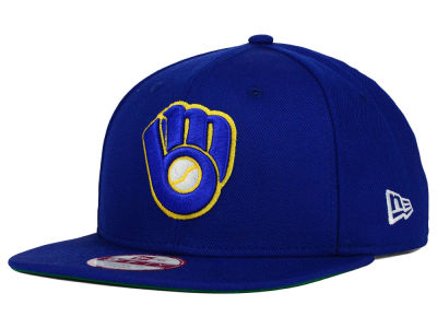 Milwaukee Brewers New Era MLB Premium Authentic 9FIFTY Strapback Cap