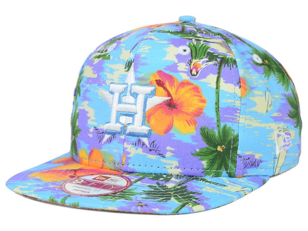 bce02ac8afe Houston Astros New Era MLB All Tropical 9FIFTY Snapback Cap