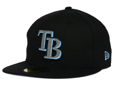 Tampa Bay Rays New Era MLB Black on Reflective 59FIFTY Cap