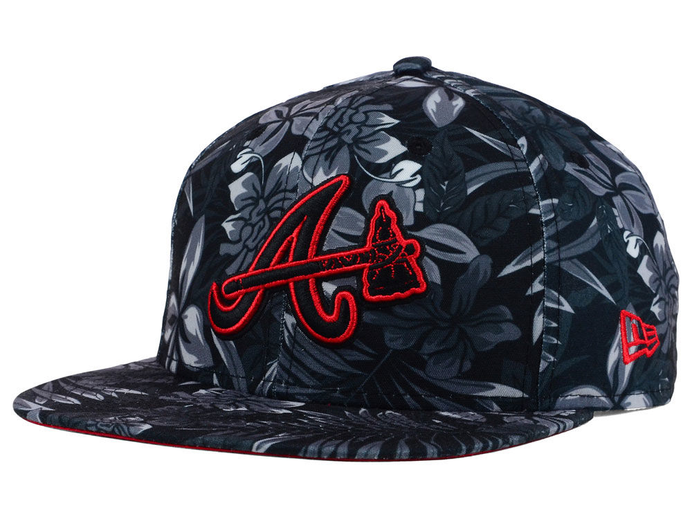 promo code fc003 61a37 ... clearance hat 4014e bca81 greece atlanta braves new era mlb night tropic  9fifty snapback cap f1992