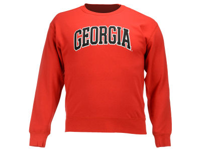 Georgia Bulldogs NCAA Men's Arch Wordmark Crew Neck Sweatshirt