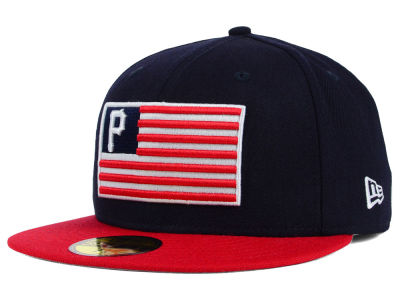 Pittsburgh Pirates New Era MLB Team Merica 59FIFTY Cap