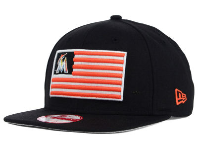 Miami Marlins New Era MLB Team Merica 9FIFTY Snapback Cap