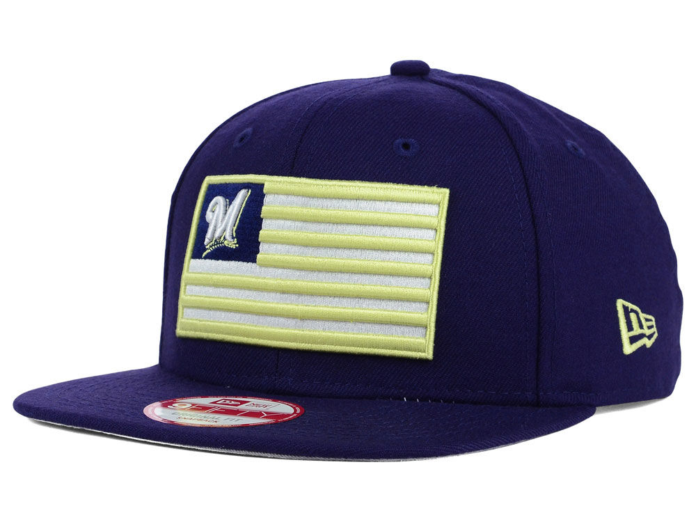 e9f77fcba1f Milwaukee Brewers New Era MLB Team Merica 9FIFTY Snapback Cap