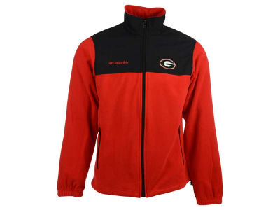 Georgia Bulldogs Columbia NCAA Men's Fast Tech Fleece Jacket