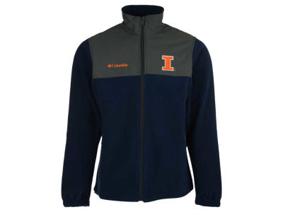Illinois Fighting Illini Columbia NCAA Men's Fast Tech Fleece Jacket