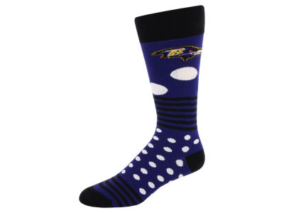 Baltimore Ravens Dots and Stripes Sock
