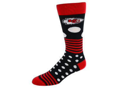Kansas City Chiefs Dots and Stripes Sock