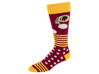 Washington Redskins Dots and Stripes Sock