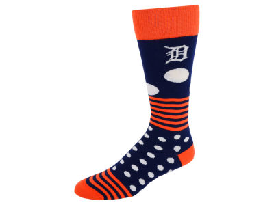 Detroit Tigers Dots and Stripes Sock