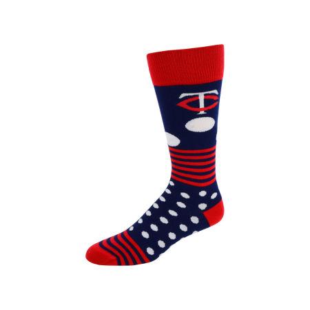 Minnesota Twins For Bare Feet Dots And Stripes Sock
