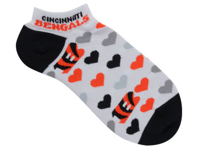 Cincinnati Bengals Lady Heart Logo Repeat Sock
