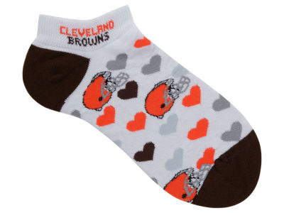Cleveland Browns Lady Heart Logo Repeat Sock