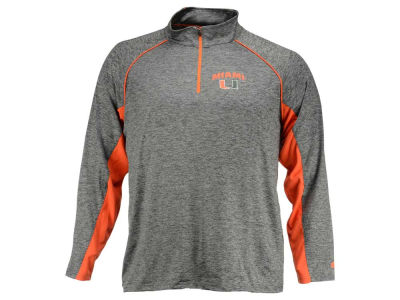 Miami Hurricanes NCAA Men's Stinger II Raglan 1/4 Zip Pullover Shirt
