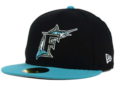 Florida Marlins New Era MLB Cooperstown 2 Tone 59FIFTY Cap