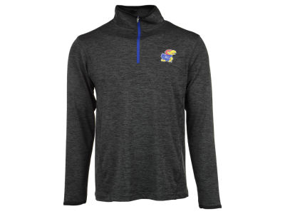 Kansas Jayhawks NCAA Men's Action Pass 1/4 Zip Pullover Shirt