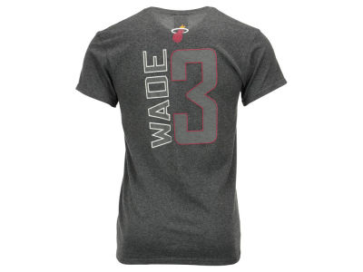 Miami Heat Dwyane Wade Majestic NBA Men's Reflective Pop Player T-Shirt