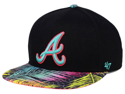 Atlanta Braves '47 MLB Black Flagler '47 Snapback Cap
