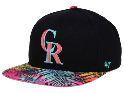Colorado Rockies '47 MLB Black Flagler '47 Snapback Cap
