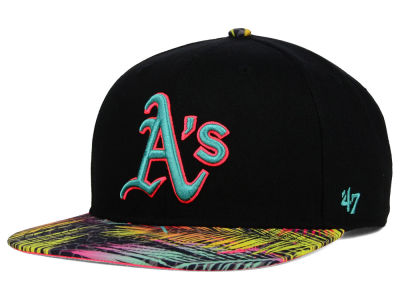 Oakland Athletics '47 MLB Black Flagler '47 Snapback Cap
