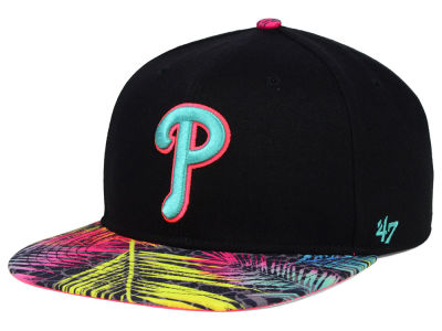 Philadelphia Phillies '47 MLB Black Flagler '47 Snapback Cap