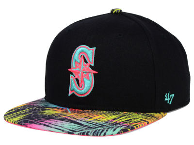 Seattle Mariners '47 MLB Black Flagler '47 Snapback Cap